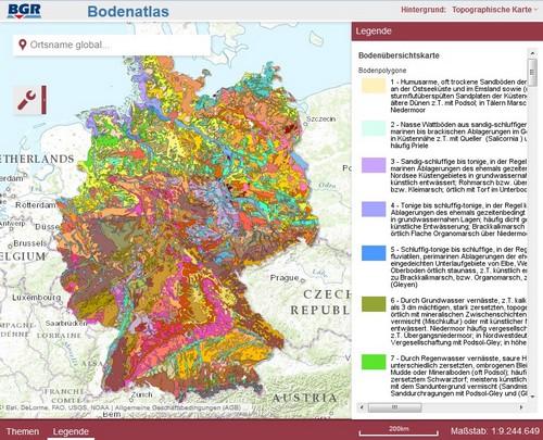 bodenqualität deutschland karte Bodenatlas Deutschland